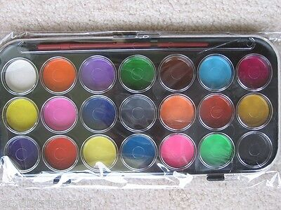 "Kids 21 Set Water Color BONUS Art Paint Brush ""Safe & Water Washable"""