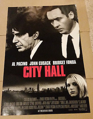 City Hall (1996) Original Movie Poster 27x40 Al Pacino John Cusack