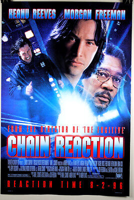 Chain Reaction Original Movie Poster 27x40 Double Sided Keannu Reaves