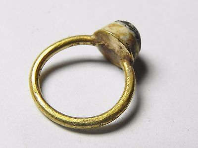 Zurqieh - Holy Land. Roman Gold Ring With Ruby For A Baby . 100 - 300 A.d.
