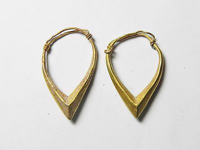 Zurqieh - Holy Land. Bronze Age Pair Of Earrings. 3000 - 2000 B.c . 6.11 Gm