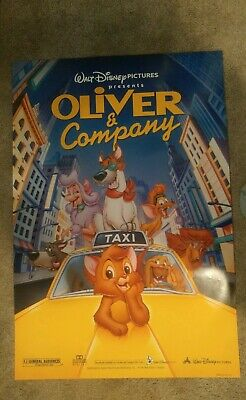 Disney Oliver and Company (1996) Original Movie Poster 27x40 Double Sided