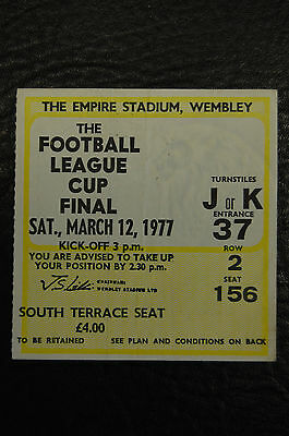 Ticket 1977 League Cup Final  Aston Villa V Everton