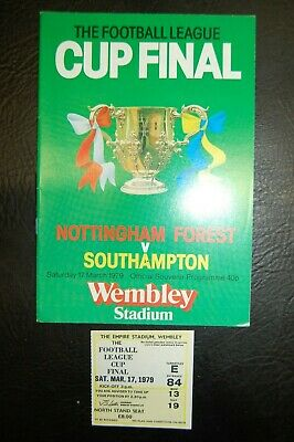 Ticket 1979 League Cup Final  Nottingham Forest V Southampton