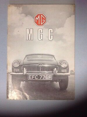 NOS 1967-68 MGC Owners Manual Mint Condition!