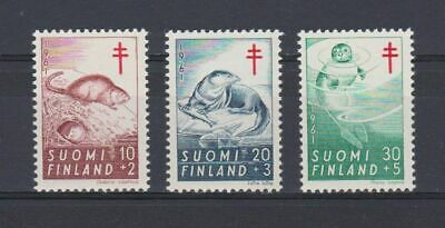 A4660) FINLAND 1961 Animals Red Cross  MNH**