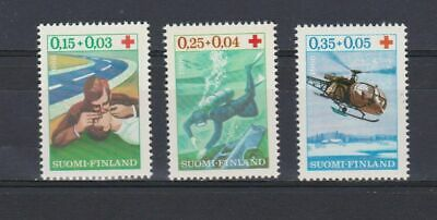 A4664) FINLAND 1966 Scott#B176-B178 Red Cross  MNH** 3v