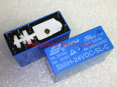 10PCS 8pins SMIH-24VDC-SL-C DC 24V 16A 250VAC Power Relay