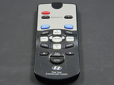 2007 HYUNDAI ENTOURAGE DVD Entertainment Remote Control REAR SEAT OEM