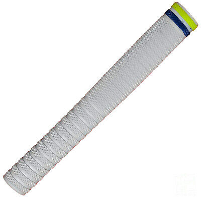 getpaddedup Pyramid Cricket Bat Grip : Multi-Colour : White with Blue and Yellow