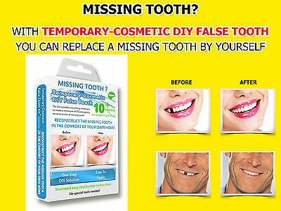 Missing Tooth Filler Temporary Teeth Replacement Repair False Diy Tooth