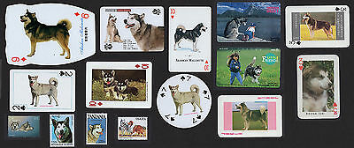 15 Alaskan Malamute Collectable Dog Breed / Trade Cards And Stamps