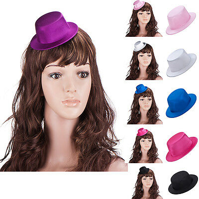 Womens Fascinator Mini Top Hat Millinery Decorate DIY Making Party Hat A087