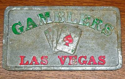 "VINTAGE 1950s ""GAMBLERS"" CAR CLUB PLAQUE - LAS VEGAS, NEVADA - RARE!"