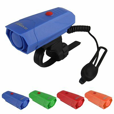 Bicycle Cycling 120db 5 Sounds Police Car Bike Siren Electric Light Horn Bell