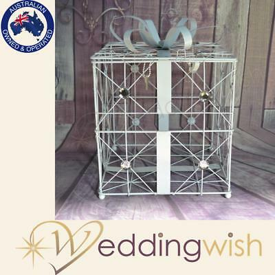Present Box Wire Card Keeper, Birdcage, Bird Cage Box, Wedding Wishing Well