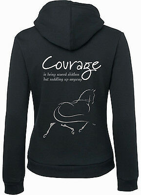 "***heels Down Clothing*** Courage""  Hoodie ..all Sizes Avail"