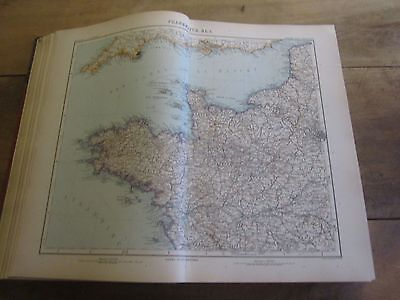 Stieler / Grand Atlas De Geographie Moderne / 1909 / 100 Cartes Couleur