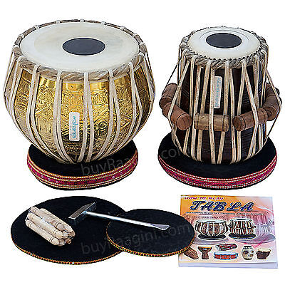 Tabla Set Delhi|Maharaja|Golden Brass Bayan 3.5Kg|Sheesham Dayan|Bag+Accs|Bhb-2