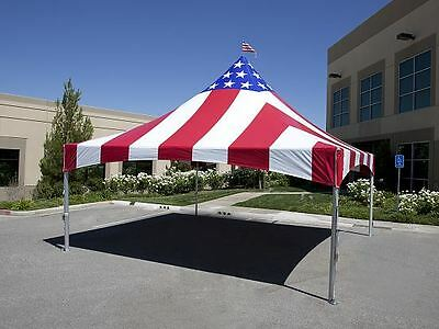 20x20 Comercial High Peak Tent in Partriot Colors