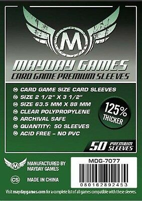 50 Mayday Premium Card Sleeves 63.5Mm X 88Mm For Living Card Games