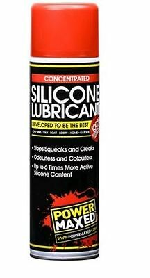 Power Maxed Silicone Lubricant Spray Can 500ml
