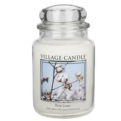 Village Candle Pure Linen Large Jar Scented Candle