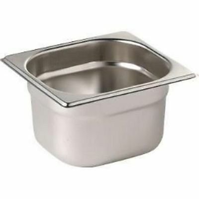 1/6 150 Deep Steel Gastronorm Food Pan/Container-6 Pcs