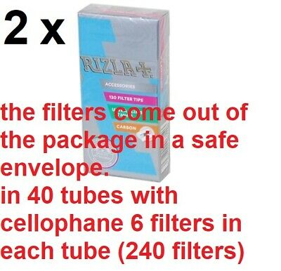 pcs Rizla Activated Carbon Smooth Ultra Slim filter tips 5.7mm 1//2//5//10//20//40