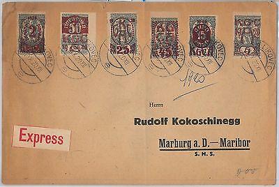 55982 -   YUGOSLAVIA -  POSTAL HISTORY:  IMPERF STAMPS on COVER  1920