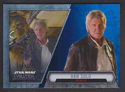 Topps Star Wars - Evolution 2016  - # 45 Han Solo - Blue Parallel