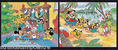 Antigua & Barbuda - 1986 Christmas (Disney) - U/M - SG 1061-8 + MS1069 (2)