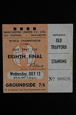 Ticket 1966 World Cup  13/07/1966  Hungary V Portugal