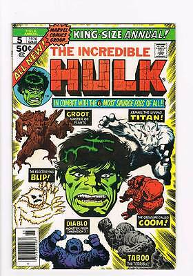 Hulk Annual # 5  Groot  ! Xemnu  ! grade 7.0 Guardians scarce hot book !!