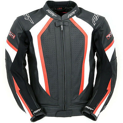 RST R-14 Leather Sports Motorcycle Jacket - Black/Red