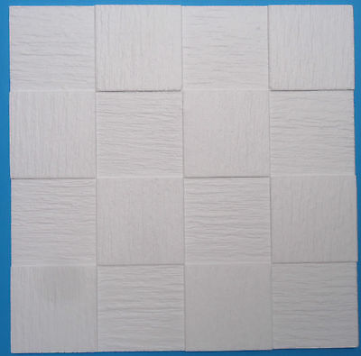 Polystyrene Ceiling Tiles  - 50cm x 50cm  - 10mm Thickness  -  'Squares'