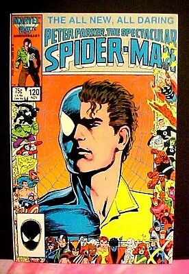 MARVEL COMICS SPECTACULAR SPIDER-MAN # 120 NOV 1986 Anniversary
