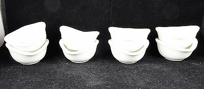 Eight Villeroy & Boch Bone China Small Four-Sided Dipping Bowls - Home Elements