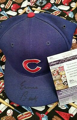 ~ ERNIE BANKS  Autograph HAT ~ JSA Certified ~ Auto Cubs Wool Baseball  Hat~