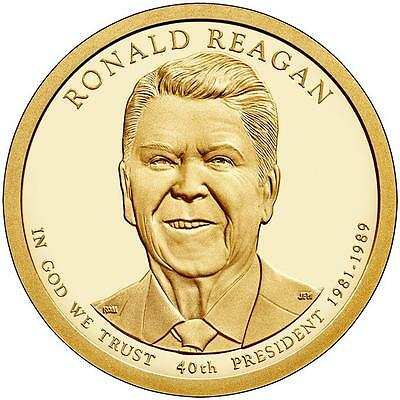 2016 Ronald W Reagan 40Th President Bu Dollar 2 Coin Set 1P &1D