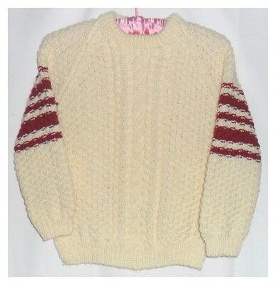 Hand Knitted Aran Jumper with Traditional Cable Pattern