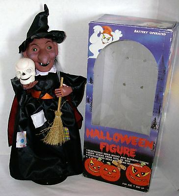 1988 Funny Toys Corp. ~ Witch Halloween Figure ~ Motion ~ Sound ~ Lights