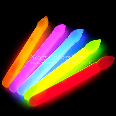 Glow in the dark CANDLE Glowsticks Party Birthday Cake Light Stick Decoration