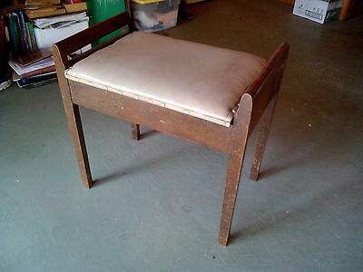 Vintage Piano Stool with Lift Top Compartment