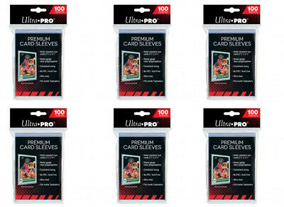 6 Packs of 100 ct. Ultra Pro Premium Card Protector Sleeves