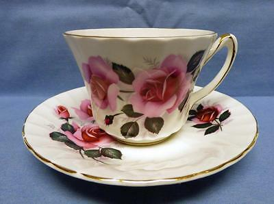 Staffordshire England Sutherland Fine Bone China Cup&saucer Vintage