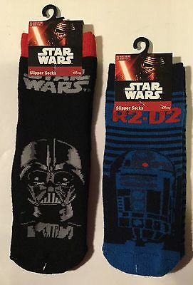 Thick Boys Slipper Socks with Star Wars detail. Darth Vader or R2-D2