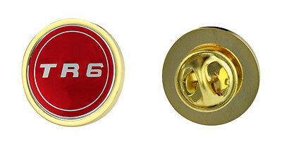 Triumph TR6 Red Logo Clutch Pin Badge Choice of Gold/Silver