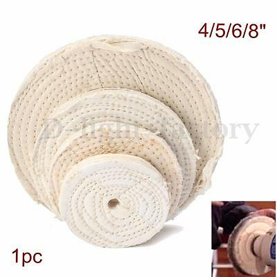 Polishing Buffing Cotton Wheel Pad For Polisher Buffer Bench Grinder Tool 4-8''