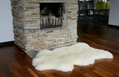 GIANT SHEEPSKIN rug XL Whit Genuine leather Decorative area rugs Natural carpet